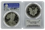 1987 S 1oz Silver Eagle Proof PCGS PR70 DCAM - Verified By David Hall