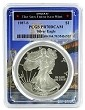 1987 S 1oz Silver Eagle Proof PCGS PR70 DCAM - Bridge Frame