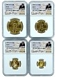 1986 Gold Eagle 4 Coin Set NGC MS70 - Gold Coin Act Label