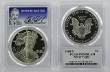 1988 S 1oz Silver Eagle Proof PCGS PR70 DCAM - Verified By David Hall