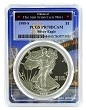 1988 S 1oz Silver Eagle Proof PCGS PR70 DCAM - Bridge Frame