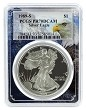 1989 S 1oz Silver Eagle Proof PCGS PR70 DCAM - Eagle Frame