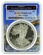 1989 S 1oz Silver Eagle Proof PCGS PR70 DCAM - Bridge Frame
