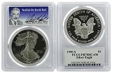 1990 S 1oz Silver Eagle Proof PCGS PR70 DCAM - Verified By David Hall
