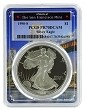 1990 S 1oz Silver Eagle Proof PCGS PR70 DCAM - Bridge Frame