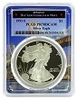1992 S 1oz Silver Eagle Proof PCGS PR70 DCAM - Bridge Frame