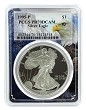 1995 P 1oz Silver Eagle Proof PCGS PR70 DCAM - Eagle Frame