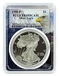 1998 P 1oz Silver Eagle Proof PCGS PR69 DCAM - Eagle Frame