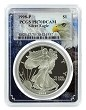 1998 P 1oz Silver Eagle Proof PCGS PR70 DCAM - Eagle Frame