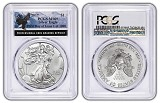 2017 1oz Silver Eagle PCGS MS69 - First Day Of Issue - Eagle Label - 1 of 1000 - Presale