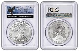 2017 1oz Silver Eagle PCGS MS70 - First Day Of Issue - Eagle Label - 1 of 1000