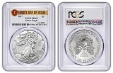 2017 1oz Silver Eagle PCGS MS69 - First Day Of Issue - 1 of 2000