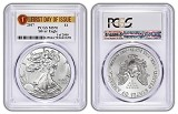 2017 1oz Silver Eagle PCGS MS70 - First Day Of Issue - 1 of 2000