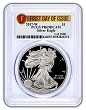 2017 W 1oz Silver Eagle Proof PCGS PR69 DCAM - First Day of Issue - 1 of 1000