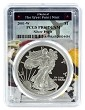2001 W 1oz Silver Eagle Proof PCGS PR69 DCAM - West Point Frame