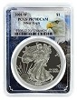 2001 W 1oz Silver Eagle Proof PCGS PR70 DCAM - Eagle Picture Frame