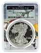 2001 W 1oz Silver Eagle Proof PCGS PR70 DCAM - West Point Frame