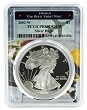 2002 W 1oz Silver Eagle Proof PCGS PR69 DCAM - West Point Frame