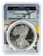 2003 W 1oz Silver Eagle Proof PCGS PR70 DCAM - West Point Frame