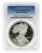 2003 W 1oz Silver Eagle Proof PCGS PR69 DCAM - Blue Label