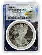 2004 W 1oz Silver Eagle Proof PCGS PR70 DCAM - Eagle Picture Frame