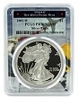 2005 W 1oz Silver Eagle Proof PCGS PR70 DCAM - West Point Frame