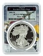 2006 W 1oz Silver Eagle Proof PCGS PR70 DCAM - West Point Frame