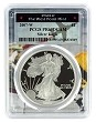 2007 W 1oz Silver Eagle Proof PCGS PR69 DCAM - West Point Frame