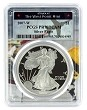 2007 W 1oz Silver Eagle Proof PCGS PR70 DCAM - West Point Frame