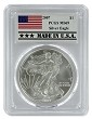 2007 1oz Silver Eagle PCGS MS69 - Made In USA Label