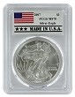 2007 1oz Silver Eagle PCGS MS70 - Made In USA Label