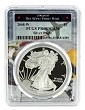 2008 W 1oz Silver Eagle Proof PCGS PR69 DCAM - West Point Frame