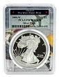2008 W 1oz Silver Eagle Proof PCGS PR70 DCAM - West Point Frame