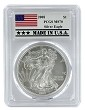 2008 1oz Silver Eagle PCGS MS70 - Made In USA Label