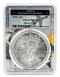 2008 (w) Struck At West Point Silver Eagle PCGS MS70 - West Point Frame