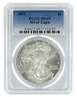 2009 1oz Silver Eagle PCGS MS69 - Blue Label