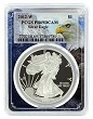 2012 W 1oz Silver Eagle Proof PCGS PR69 DCAM - Eagle Picture Frame