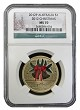 2012 P Australia $1 Bronze Christmas Coin NGC MS70 Christmas Label