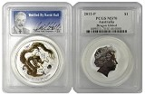 2012 P Australia Gilded 1oz Silver Dragon PCGS MS70 - Verified By David Hall