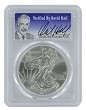 2013 1oz Silver Eagle PCGS MS70 - Verified By David Hall