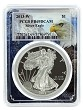 2013 W 1oz Silver Eagle Proof PCGS PR69 DCAM - Eagle Picture Frame