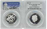 2013 Australia 1oz High Relief Silver Lunar Snake PCGS PR70 DCAM - Verified By David Hall