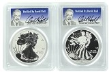 2013 W Silver Eagle 2 Coin Silver Set (S40) PCGS PF70 SP70 - Verified By David Hall