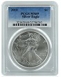2014 1oz Silver Eagle PCGS MS69 - Blue Label