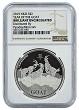 2015 Niue 1oz Silver Year Of The Goat NGC - Brilliant Uncirculated