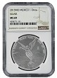 2015 Mexico 1oz Silver Onza Libertad NGC MS69 - Brown Label