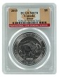 2015 1.25 oz Silver Canadian Bison PCGS MS70 - Flag Label