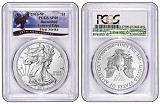 2016 W Burnished Silver Eagle PCGS SP69 - First Strike - Eagle Label