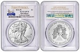 2016 W Burnished Silver Eagle PCGS SP70 - First Strike - 30th Anniversary Label