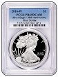 2016 W 1oz Silver Eagle Proof PCGS PR69 - Blue Label